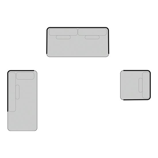 BARCELONA Set 4  | B: 73cm | B: 174cm | B: 170cm