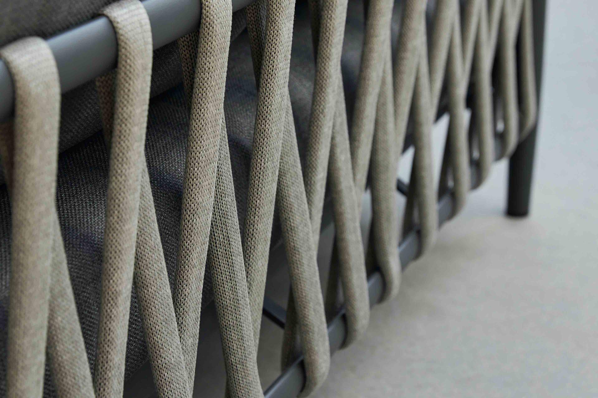 SEVILLA ropa 2-Sitzer mit Armlehne rope